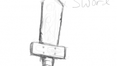 Dark's wooden sword